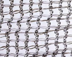 Tessuto a maglia in catena