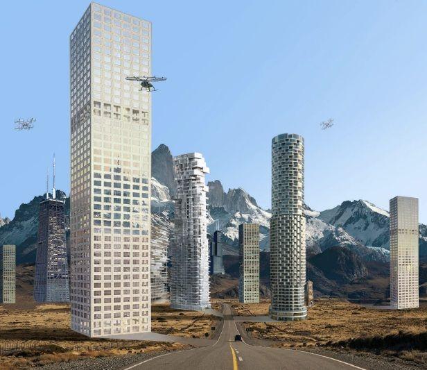 Ribbon city: Grattacieli lungo le rotte del traffico