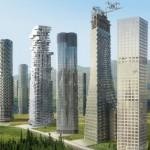 Grattacieli lungo le rotte del traffico: una città che stravolge gli attuali modelli urbani