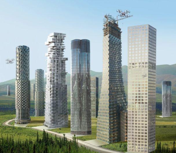 ribbon city: Grattacieli lungo le rotte del traffico: una città che stravolge gli attuali modelli urbani