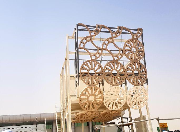rivestimento della facciata del Al Rayyan Stadium a Doha