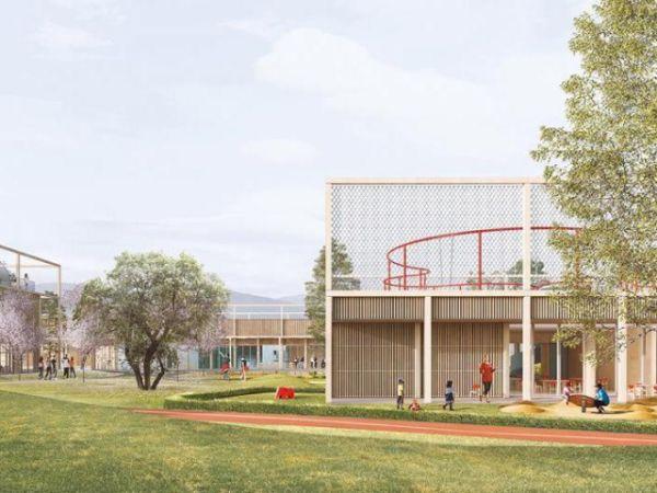Innovativa scuola a Sassa, provincia de L'Aquila, sicura ed efficiente