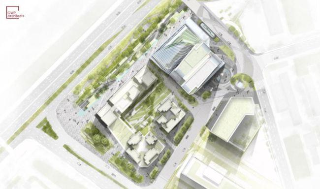 schema di progetto torre Fengsheng a Guangzhou