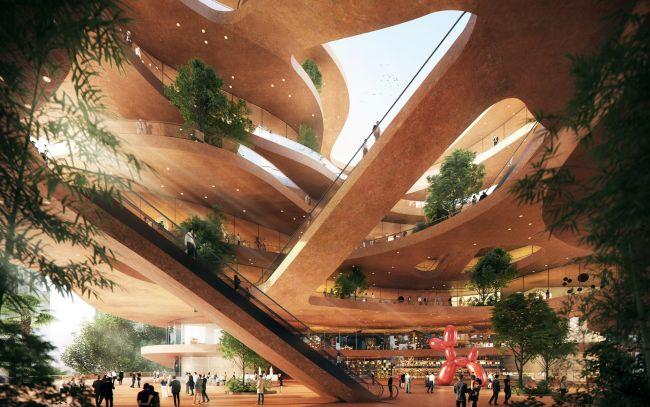 Shenzhen Terraces, quartiere urbano sostenibile, la struttura interna