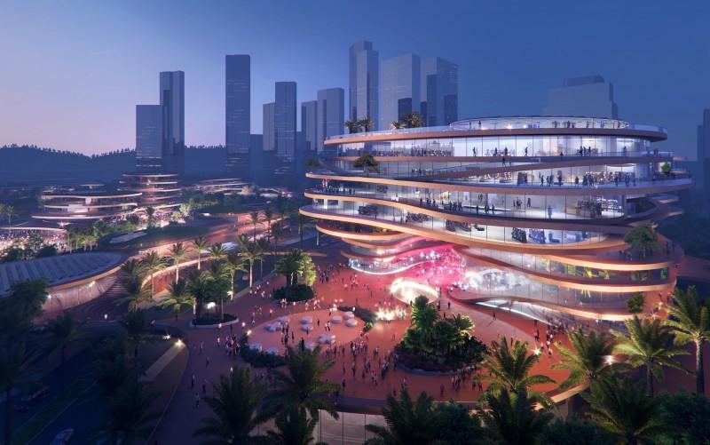Shenzhen Terraces, quartiere urbano sostenibile con linee orizzontali