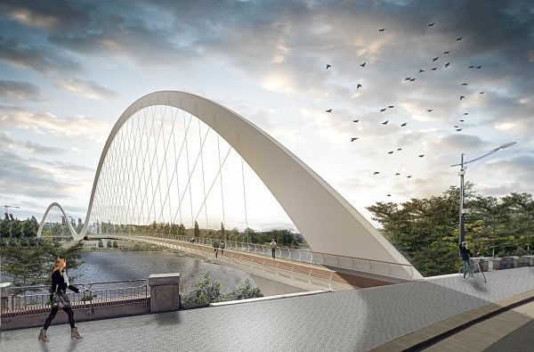 "A Praga il ponte ""Lávka Holešovice Karlín"" firmato dallo studio italiano Schiavello Architects"