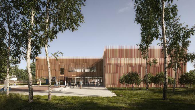 Complesso scolastico di Legnano (Verona), progetto di Alfonso Femia