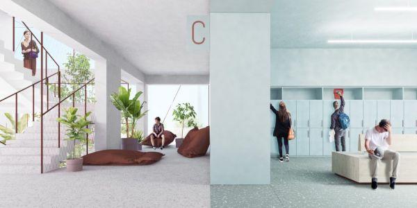 Nuova scuola Enrico FERMI a Torino, gli spazi interni