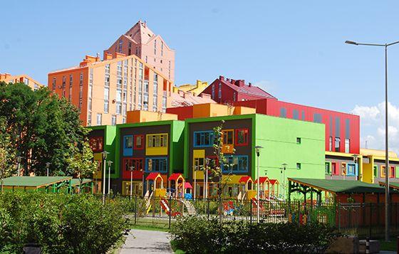 La scuola del quartiere Comfort Town di Kiev