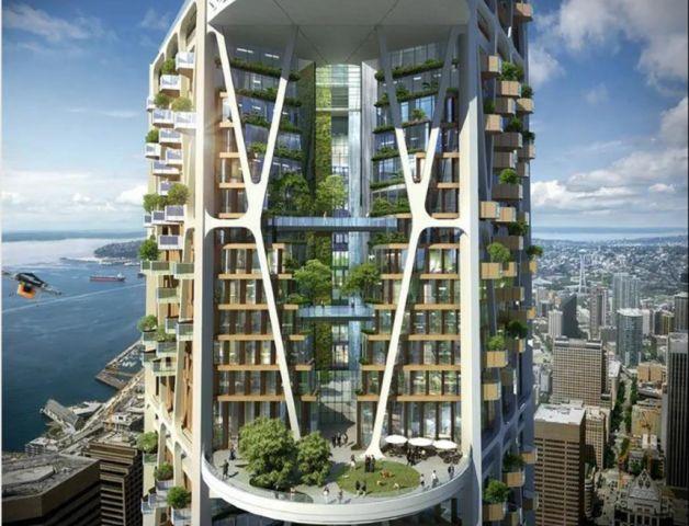 Seattle 2030: un'idea di grattacielo per il futuro