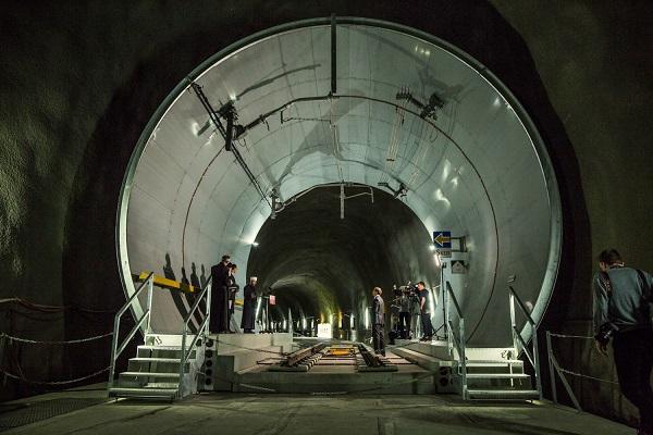 Un tratto del tunnel del San Gottardo