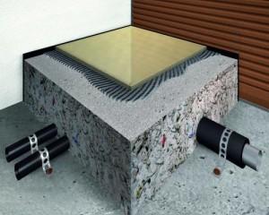 Massetto utilizzato su un impianto di riscaldamento radiante
