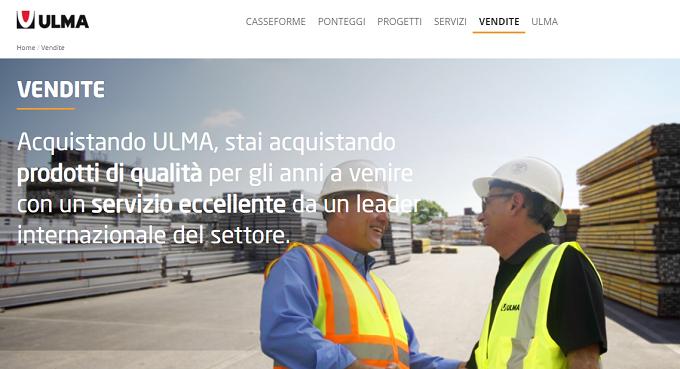 Sul sito di ULMA CONSTRUCTION una nuova sezione dedicate alle VENDITE!
