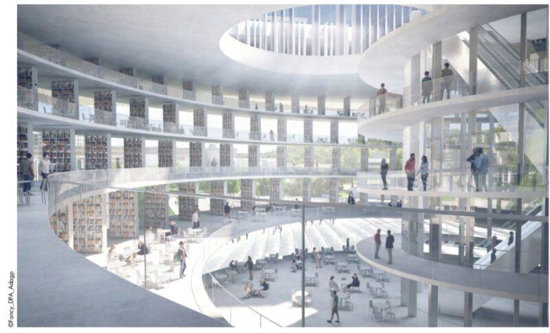 Interno del Nuovo istituto di design e innovazione a Shenzhen