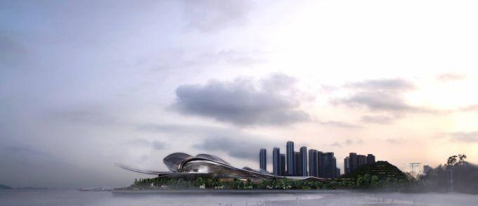 Il Teatro dell'Opera di Shenzhen: un guscio di madreperla circondato dal mare