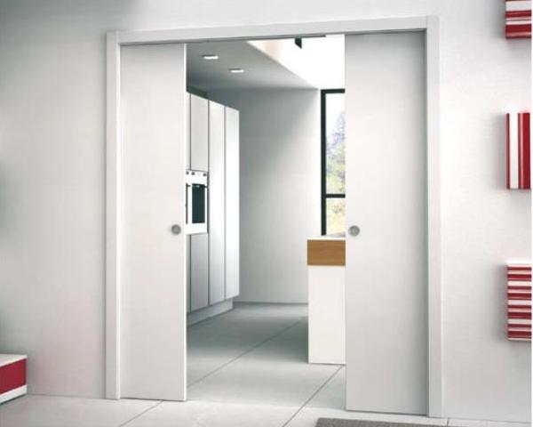 Porte scorrevoli a scomparsa o esterno parete