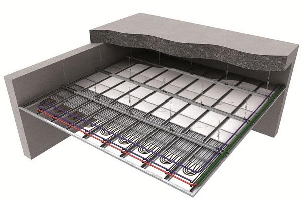 Sistemi radianti per l'applicazione a soffitto