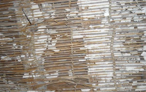 L'incannucciato all'intradosso di un solaio in legno