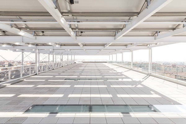 Terrazzo Banca Sella ottenuto con progettazione in BIM