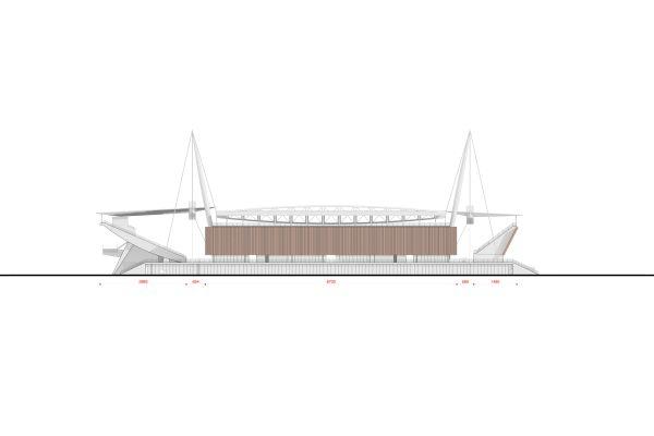 Nuovo stadio Novara, prospetto sud