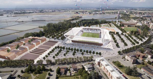 Lo studio Andrea Maffei Architects firma il nuovo stadio di Novara