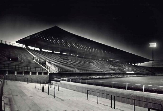 Stadio Flaminio, Roma, veduta interna della pensilina, 1960. Courtesy PLN Project, Bruxelles