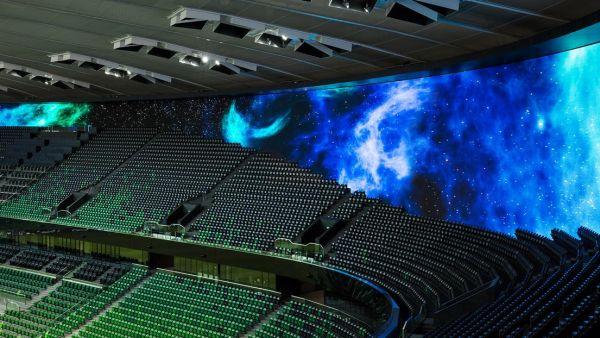 In uno stadio il primo schermo a 360° del mondo