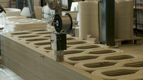La stampante di calcestruzzo dell'università di Eindhoven