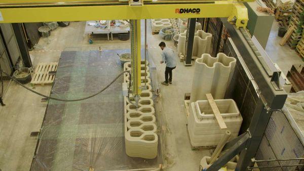Project Milestone : La stampante di calcestruzzo dell'università di Eindhoven