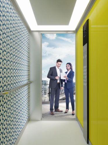 Ascensore Synergy 200 di Thyssenkrupp indicato per edifici residenziali o piccoli uffici