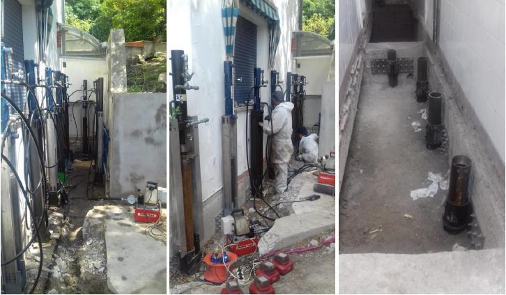 I micropali precaricati SYStab per il consolidamento di un edificio civile colpito da una frana
