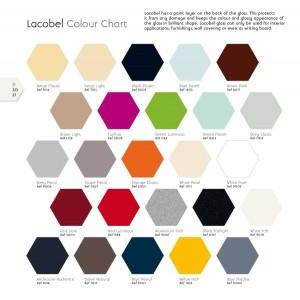 Tabella colori Lacobel