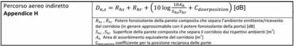 equazioni per il calcolo del percorso laterale indiretto