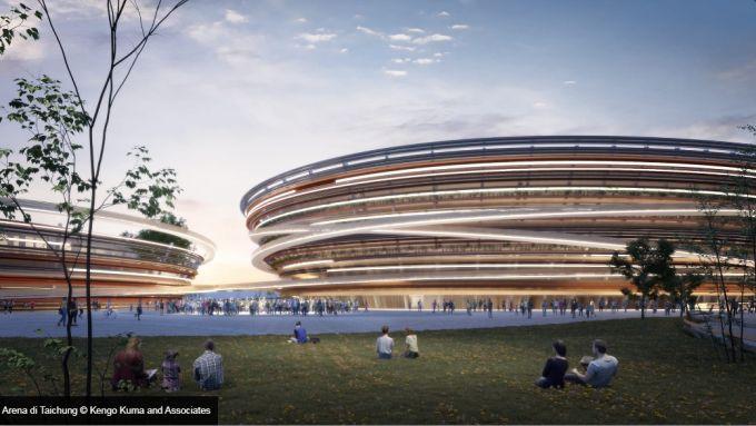 Taichung Arena di Taiwan: Quattro edifici a forma di anello