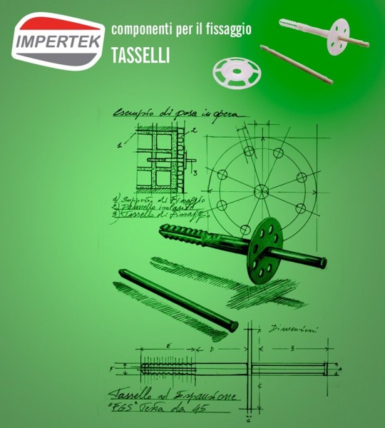 Componenti per il fiissaggio - tasselli e fissaggi per pannelli isolanti
