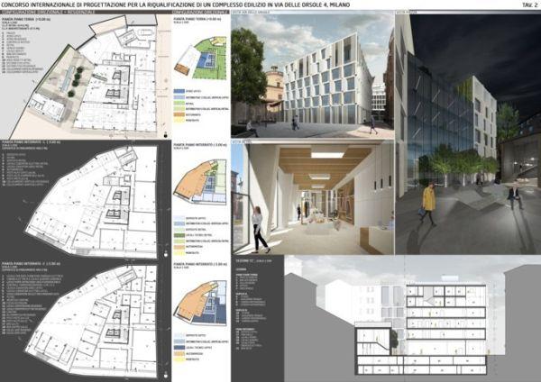 Il progetto vincitore per la riqualificazione del complesso edilizio di via delle Orsole di Milano