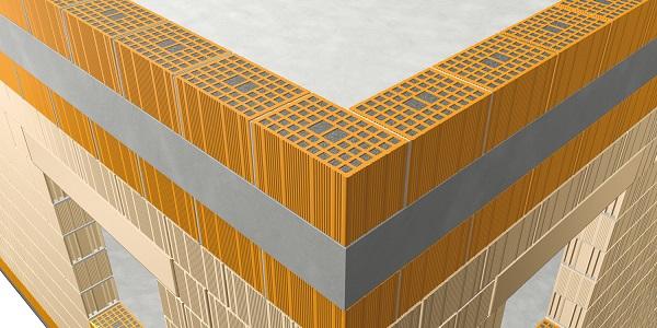 Applicazione ad un terrazzo del blocco isolante Normablock Più Taglio Termico