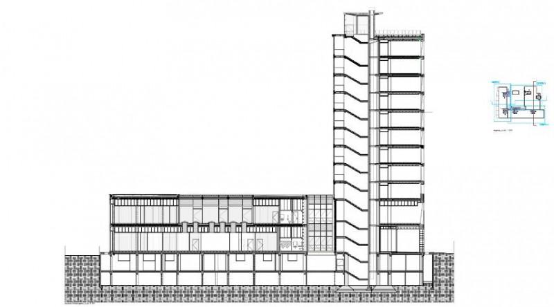 The Corner, Sezione trasversale dell'edificio