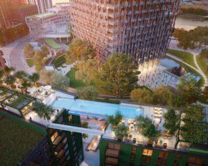 Sky Pool, un bagno in piscina sospesi nel cielo a 35 metri