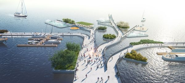 Progetto The weaves a Seoul, waterfront