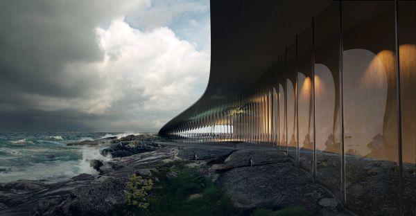 """The Whale"""", il nuovo centro turistico del circolo polare artico."""