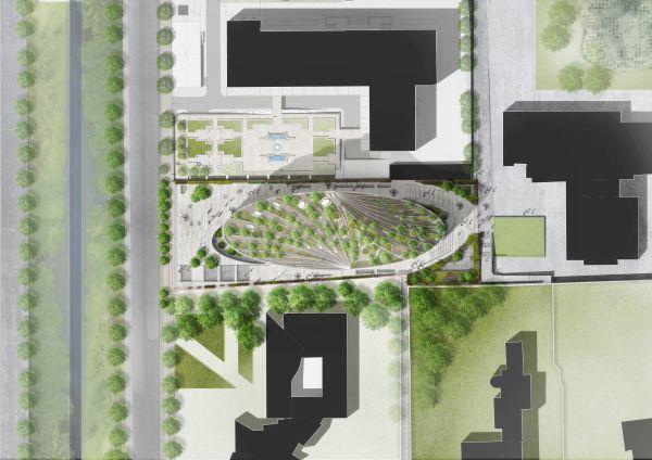 Planimetria del Met a Tirana (render, ©Mario Cucinella Architects)