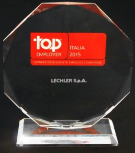 "Lechler premiata al ""Top Employers Italia 2015"" 2"