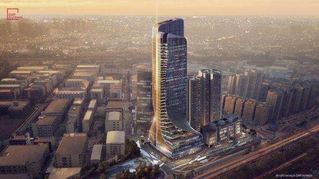 Fengsheng 101: la torre a forma di vela nello skyline di Guangzhou