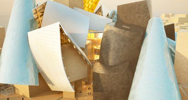 Le torri del vento per il Il Guggenheim di Abu Dhabi firmato Frank Gehry