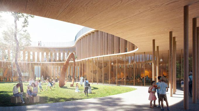 Tree-House school, perfetta integrazione tra ambienti interni ed esterni