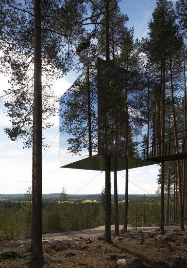 Dormire sugli alberi: Treehotel, Svezia