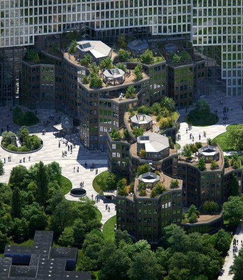 Nuova sede Uber ad Amsterdam: Tripolis Park dalla forma geometrica