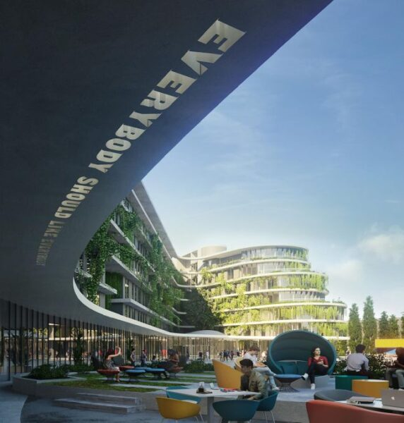 Render The Student Hotel a Roma