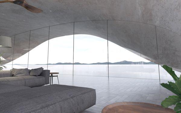 Gli eleganti spazi interni di Twine, architettura scolpita